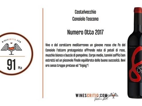 Wines Critic - 91 pts - NUMERO OTTO 2017